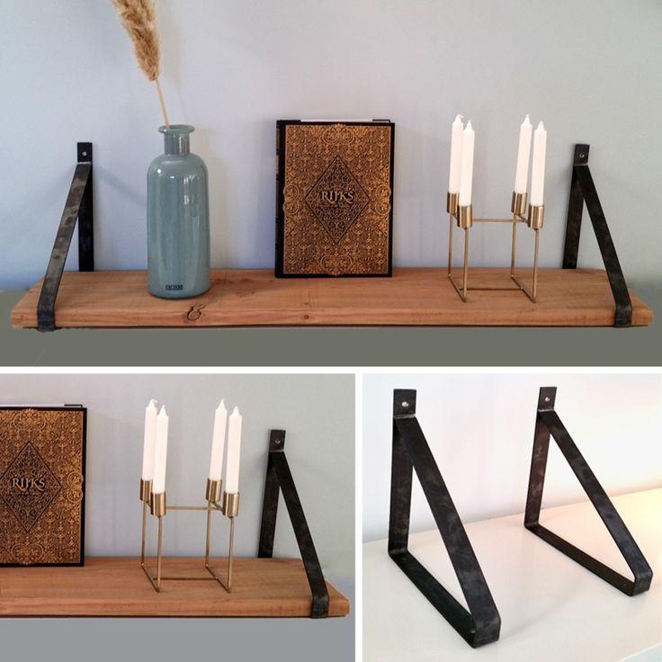 Wandplank met stalen dragers (3 cm dik) | Home | De Betoverde Zolder