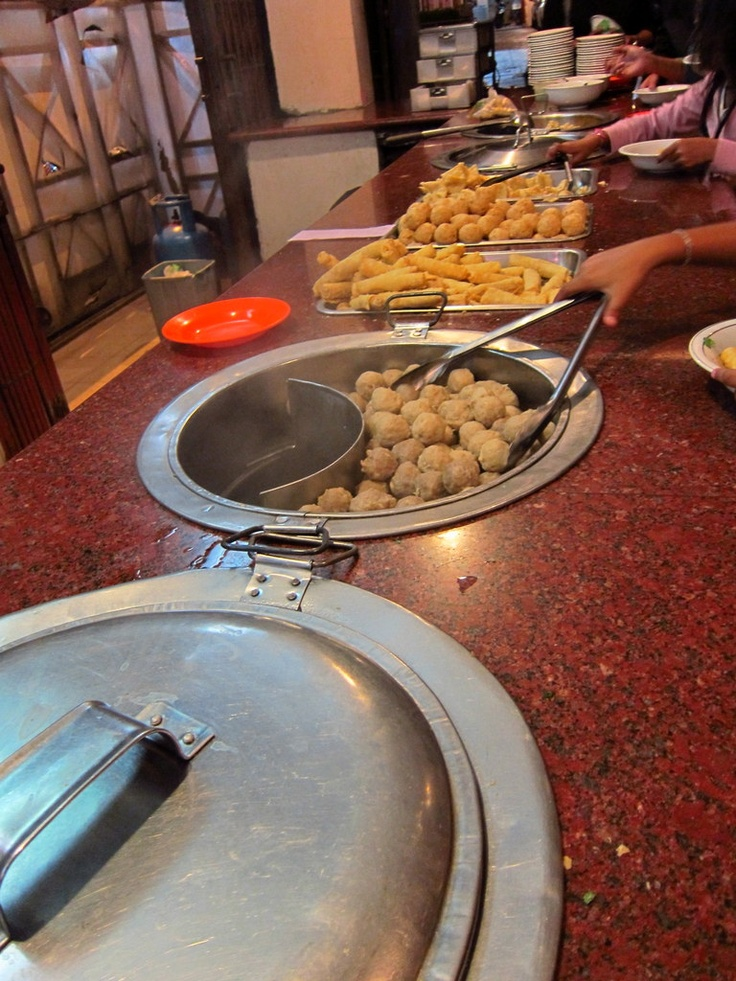 Bakso Malang, the best bakso stall in Bandung. The Beef Balls are so ooomph!