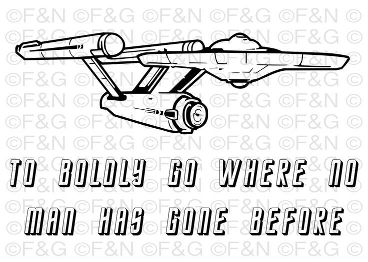 "Starship USS Enterprise NCC-1701 ""To Boldly Go..."" Printable Poster - 70x50 cm, Star Trek, TOS, Wall Art, Digital Poster, Artwork di TheEmporiumOfWonders su Etsy"