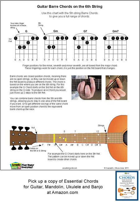 guitar barre chords on the 6th string guitar and music in 2019 guitar guitar chords. Black Bedroom Furniture Sets. Home Design Ideas