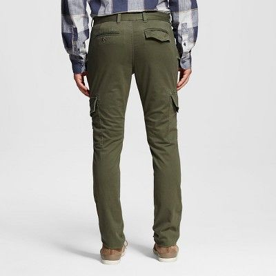 Men's Cargo Pants Olive 38x32 - Mossimo Supply Co., Green