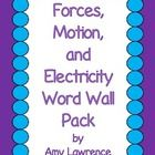 40 forces, motion, and electricity related vocabulary words. Each page includes three cards - one with the word, another with the definition and an...