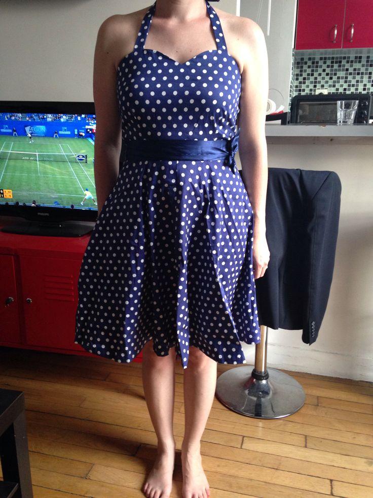 la robe pour le mariage guinguette je pense ajouter un jupon pour rendre la jupe plus bouffante