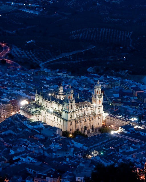 Jaen Cathedral At Night by PatsSoxfan, via Flickr