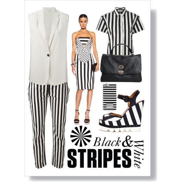 Striped Style by spinnaker-sanremo-alassio-portofino on Polyvore featuring moda, Cushnie Et Ochs, Dolce&Gabbana, Brunello Cucinelli, MICHAEL Michael Kors and Zanellato