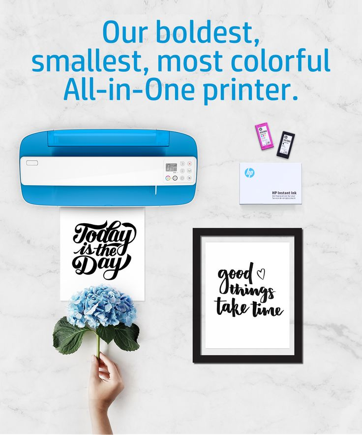 Introducing the new DeskJet 3700—a bold, compact, colorful All-in-One printer