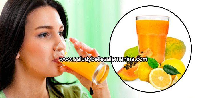 Bebida de papaya y limón para desintoxicar el estómago