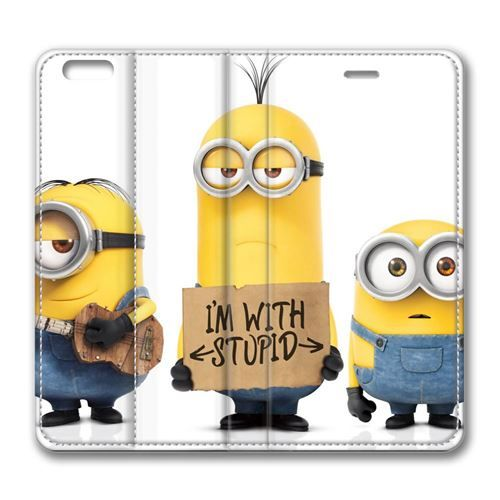 """Picture of Stuart Dave Kevin Minion Film 2015 Animated Characters Leather Cover for iPhone 6 Plus (5.5"""")"""