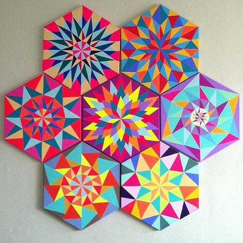 kristin farr geometric - would be nice as a cane pattern