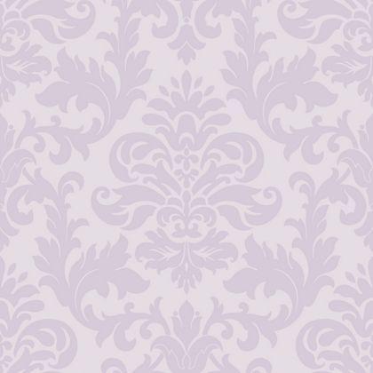 Rasch glitter damask wallpaper lilac at homebase be for Wallpaper homebase grey