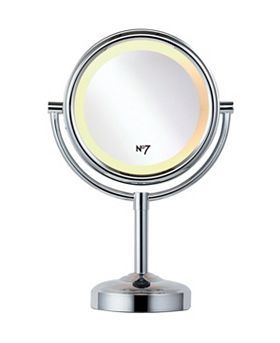 No7 Illuminated Make-up Mirror - Exclusive to Boots. £19. Or Revlon do one which you can get on amazon.
