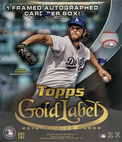 3575377b34e 2016 Topps Gold Label Baseball Hobby Box Free Shipping - D   D Collectibles