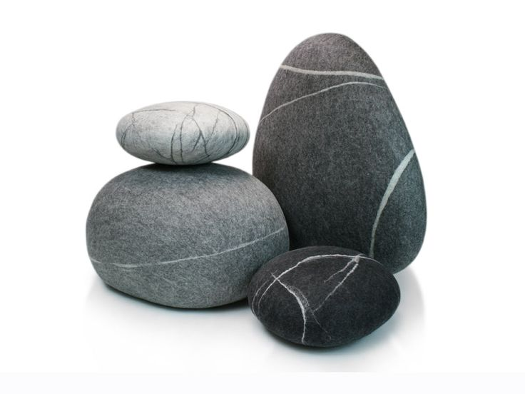 Uniquely crafted fivetimesone stone poufs and pillows | live in harmony with nature #fivetimesone #sustainabledesign #unique #stonepouf
