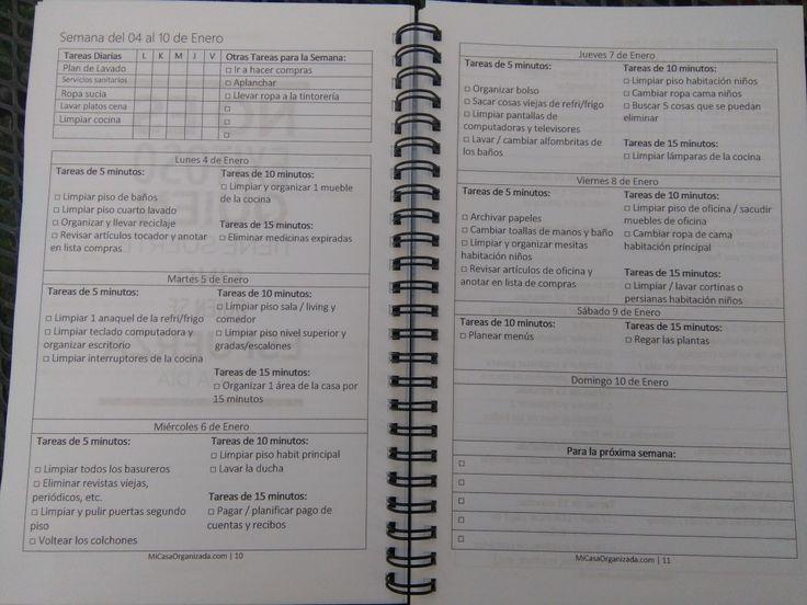 Planificador de tareas del hogar 2016 al fin mi casa - Planificador armarios ...