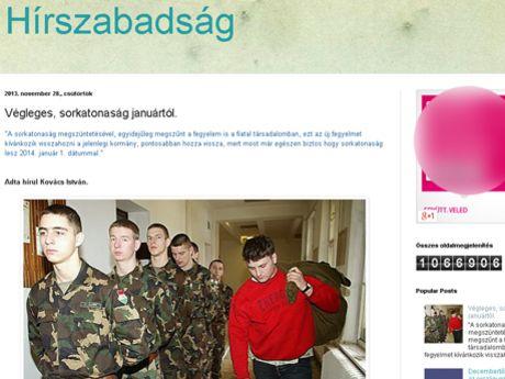 Lesz sorkatonaság januártól? - http://hjb.hu/lesz-sorkatonasag-januartol.html/