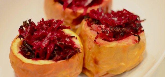 Gevulde appeltjes met rode kool - Uit Paulines Keuken