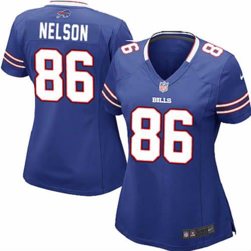 David Nelson Jersey Buffalo Bills #86 Women Blue Limited Jersey Nike NFL Jersey Sale