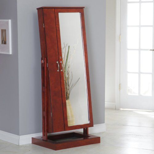 Bordeaux Cheval Mirror Jewelry Armoire Color - Cherry for only $419.98