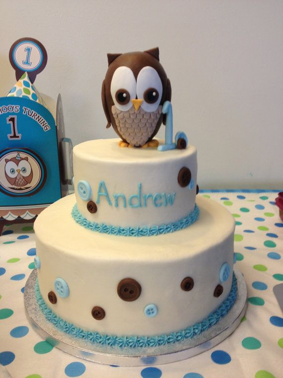 Fondant Owl Cake Topper Kit