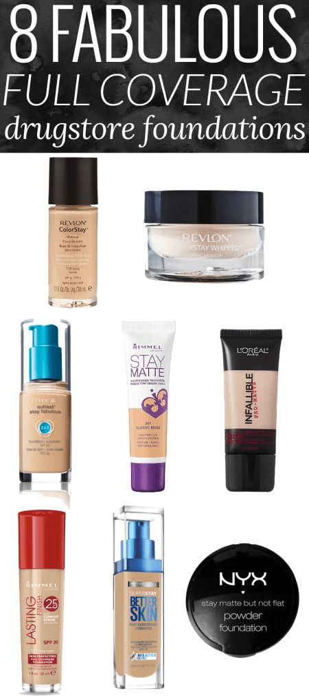 8 Fabulous Full Coverage Drugstore Foundation - The Best Drugstore Foundation by beauty blogger Meg O. on the Go