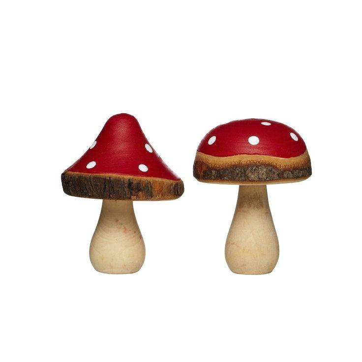 Flugsvampar av trä 2 st