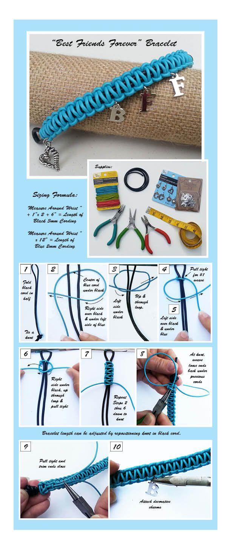 Best Friends Forever DIY Paracord Bracelet