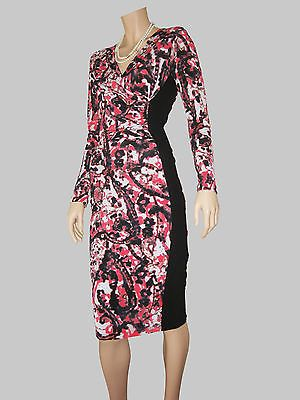 Floral Panelled Dress with v-neck, bodycon style, midi length,lined, size 12 $67 via @Shopseen