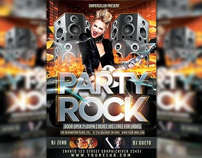 """Check out new work on my @Behance portfolio: """"Party Rock"""" http://be.net/gallery/34643239/Party-Rock"""