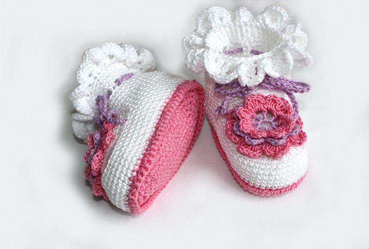 Вязание крючком. МК Пинетки крючком (часть 5) Crochet.