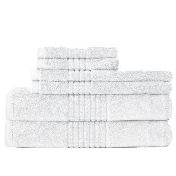 dream castle egyptian cotton towels in white - Egyptian Cotton Towels