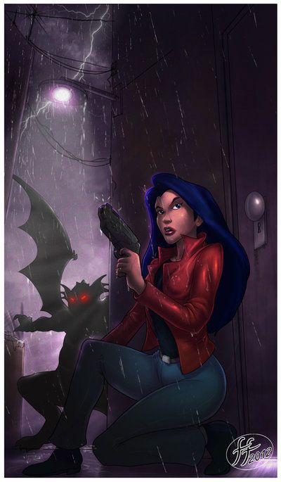 "Elisa Maza by 14-bis // Gargoyles TV show ""Elisa Maza is a character from the TV show Gargoyles. The closest human friend to the clan and the love interest of Goliath, she is a detective that assists..."