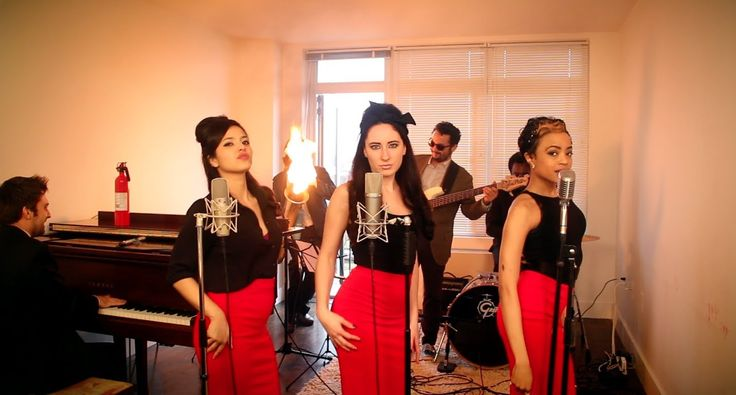 Burn - Vintage '60s Girl Group Ellie Goulding Cover with Flame-O-Phone - I thought that this was sorta weird at first but their talent is impressive :)