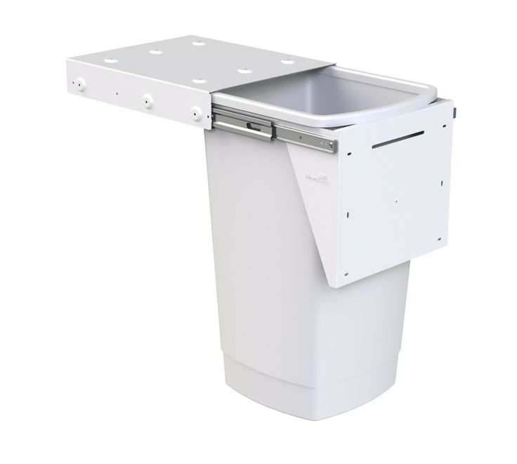 Hideaway Compact model: KC50SCD. 1 x 50L bucket, door pull. Great for a larger family or commercial / office kitchen.