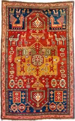 Kazak Fachralo Double Niche Prayer Rug