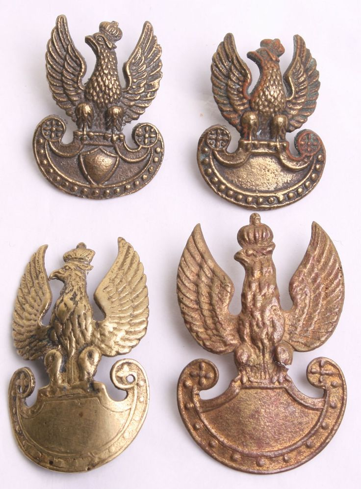 Polish Eagles emblems.