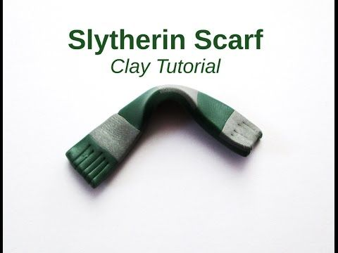 DIY Harry Potter Tuto Fimo Clay Slytherin Scarf Serpentard Echarpe