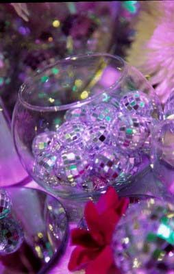 Bowl of disco balls for tables