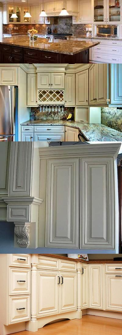 Cabinets 85879: Solid Wood Kitchen Cabinets 10X10 Antique White Glaze -> BUY IT NOW ONLY: $2495 on eBay!
