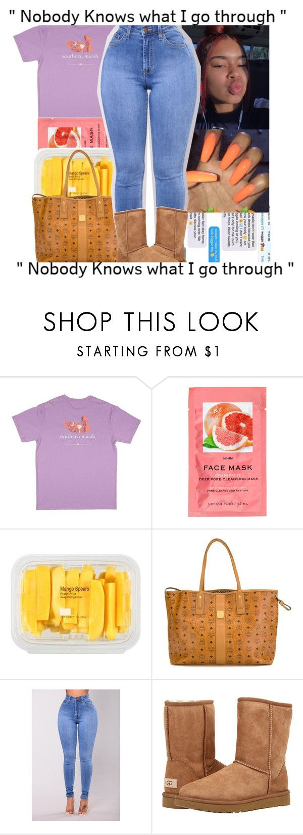 """10-29-17❤"" by shawtyash ❤ liked on Polyvore featuring H&M, MANGO, MCM and UGG Australia"