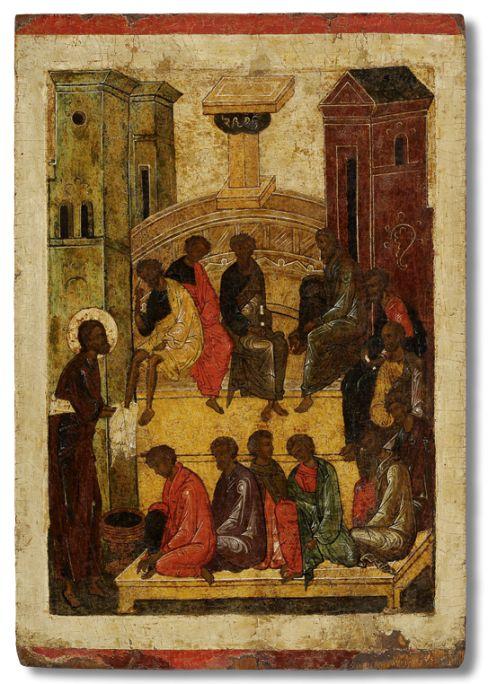 198 Омовение ног, из праздничного чина иконостаса