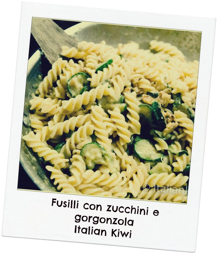 Pasta with zucchini and gorgonzola is a great way to use the last of the season's zucchini