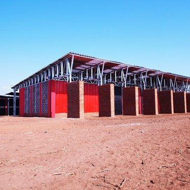 The Legson Kayira Primary School - Designed & built in Johannesburg and then transported to Malawi.