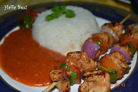 Chicken Shashlik, Skewered Chicken