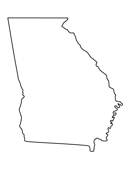 georgia pattern  use the printable outline for crafts