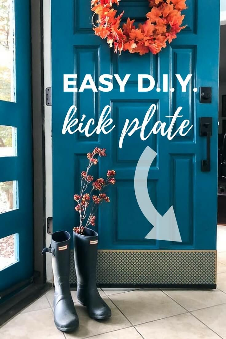 Your kick plate doesn't have to be boring. This easy, DIY kick plate for you...