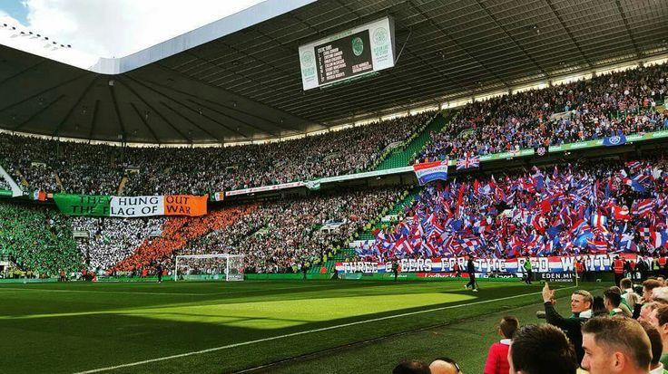 Celtic x Rangers  Foto do clássico Old Firm que ocorreu no último sábado!