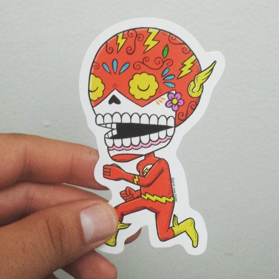 Flash Calavera Die Cut Vinyl Sticker