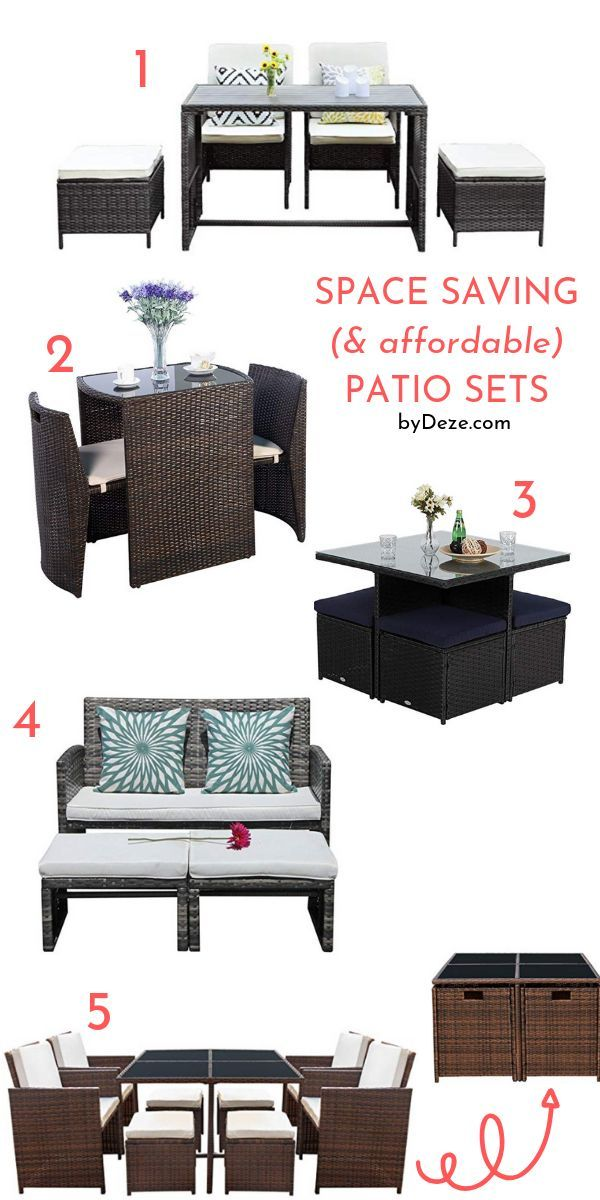 Decorate Your Patio Or Balcony Like A Pro With These Affordable And Space Saving Outdoor Furniture Furniture For Small Spaces Patio Set Outdoor Furniture Sets