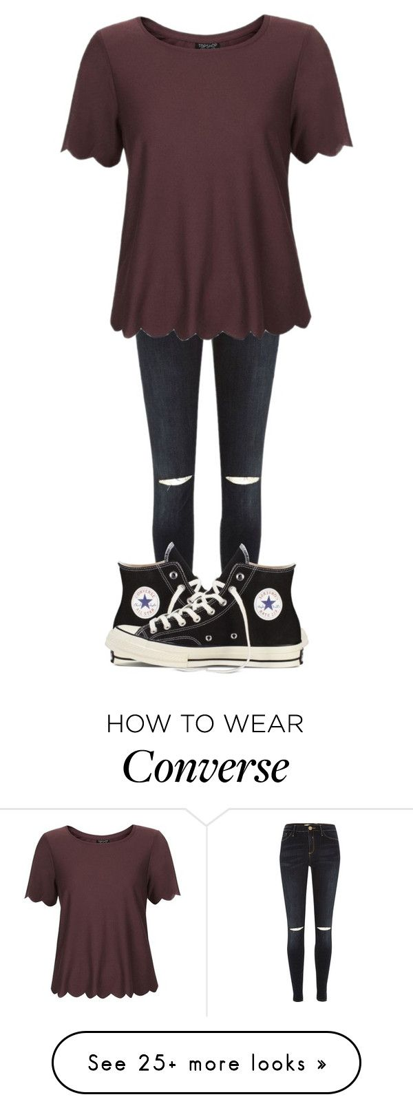 """•Casual•"" by thisisvintage on Polyvore featuring River Island, Topshop and Converse"