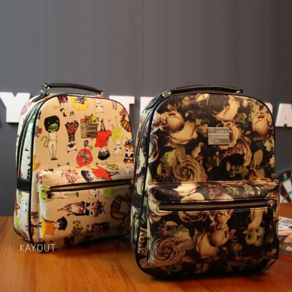 Cool! Cartoon Cute  Flower Graffiti Animal  School Backpacks just $32.99 from ByGoods.com! I can't wait to get it!